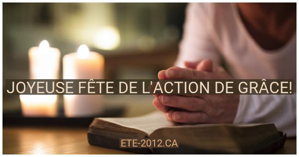 Joyeuse fête de l'action de grâce Canadienne